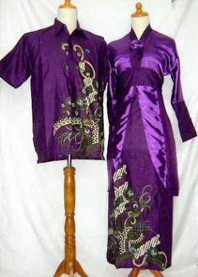 model baju batik muslim sarimbit untuk anak muda pria wanita