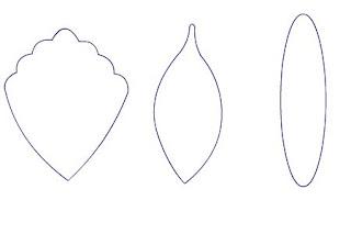 patron o molde para armar la orquidea en masa flexible o porcelana fria