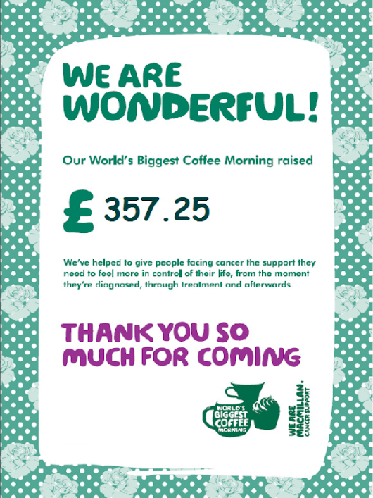 Macmillan Coffee Morning | NBJ