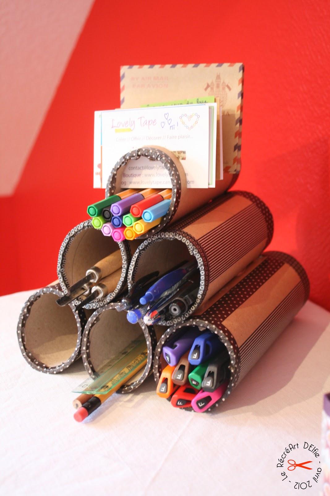 le r cr art delfie diy rangement pour crayons avec masking tape. Black Bedroom Furniture Sets. Home Design Ideas