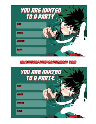 my hero academia birthday printables