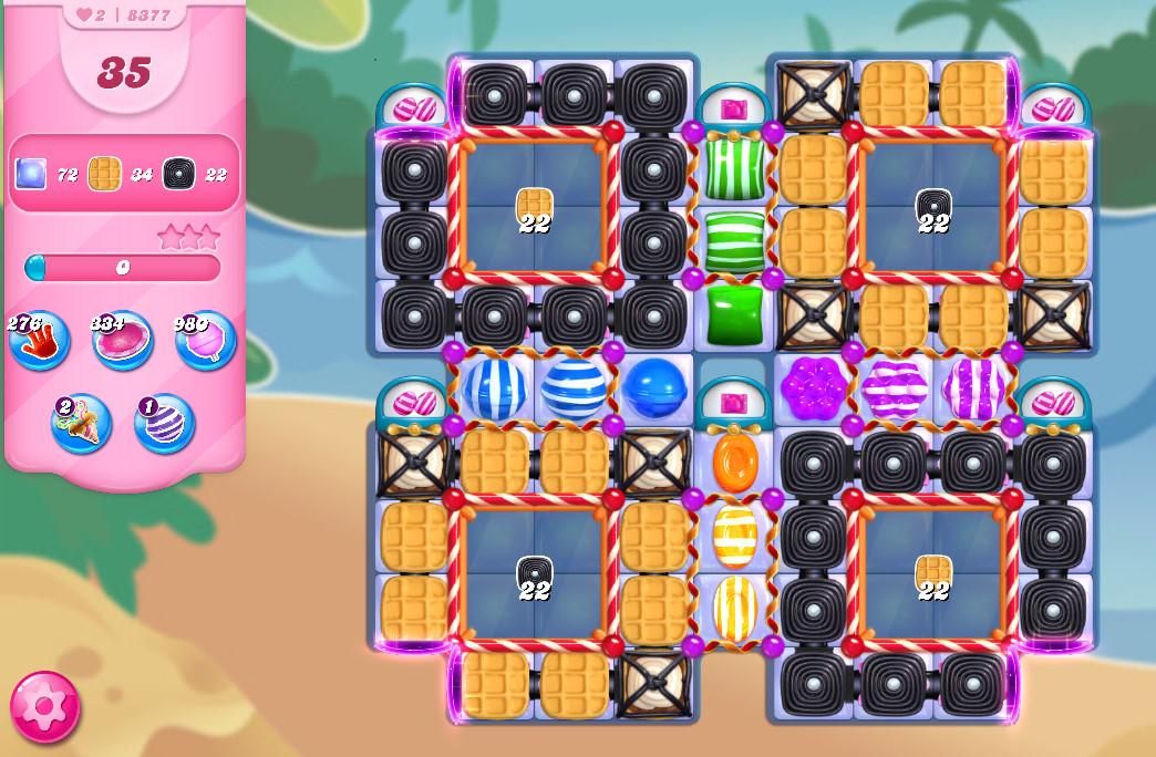Candy Crush Saga level 8377