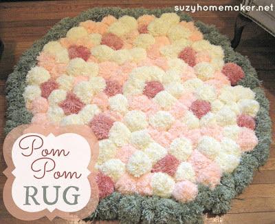 http://www.suzyandco.com/2012/08/pom-pom-rug.html