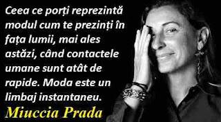 Maxima zilei: 10 mai - Miuccia Prada