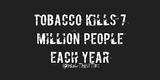 Health Facts & Tips @healthbiztips: Tobacco kills 7 million people each year.