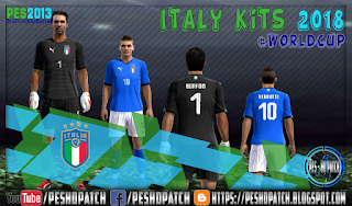 Italy World Cup 2018 kits for PES 2013