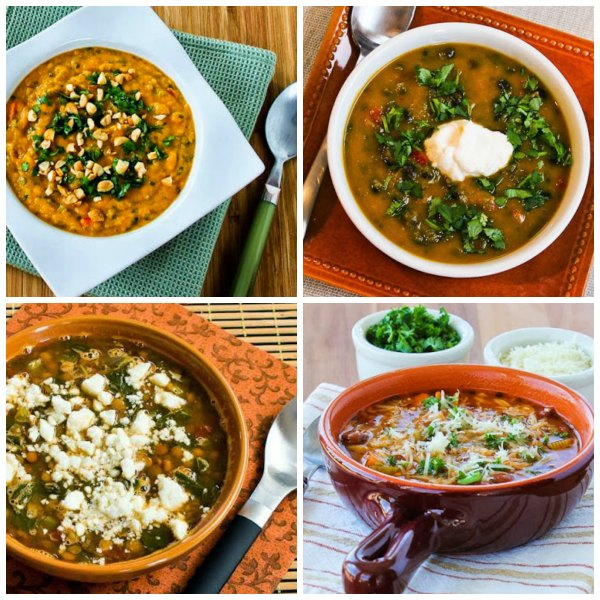 Ten Amazing Meatless Monday Soup Recipes for Fall found on KalynsKitchen.com