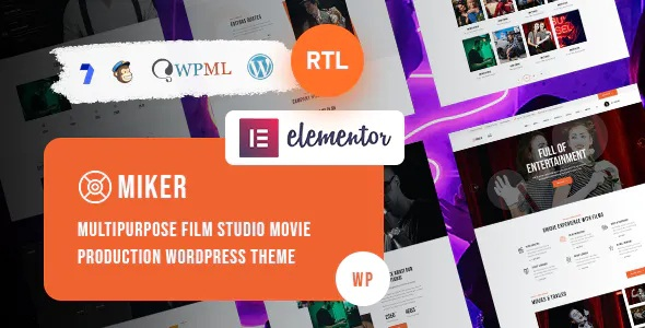 Best Movie and Film Studio WordPress Theme