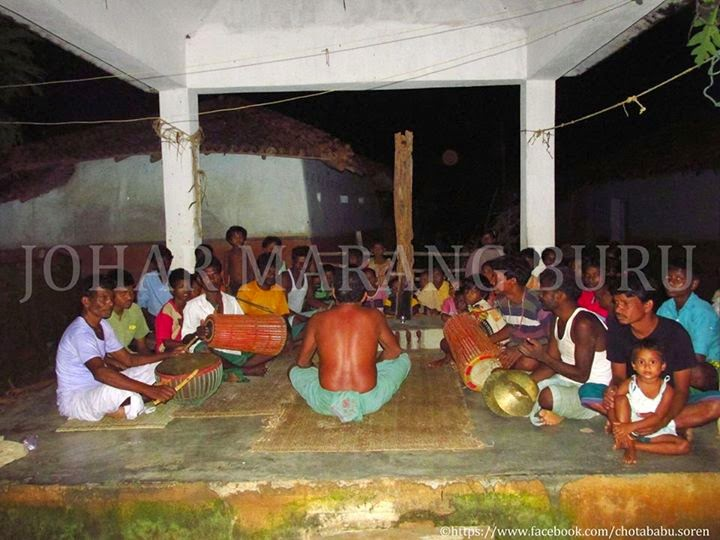 Santal gathers at Akhra