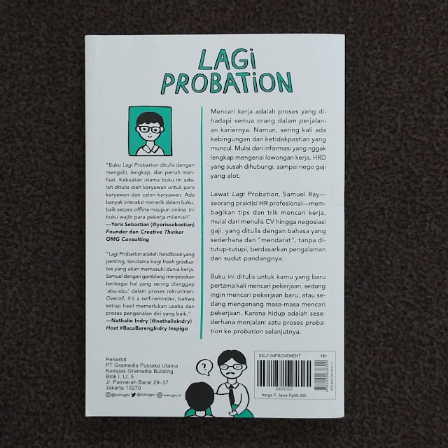 Lagi Probation - Menikmati Perjalanan Mencari Kerja Cover Belakang
