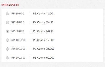 Pilih Nominal Top Up Cash Zepetto Indonesia