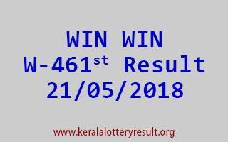 WIN WIN Lottery W 461 Result 21-05-2018