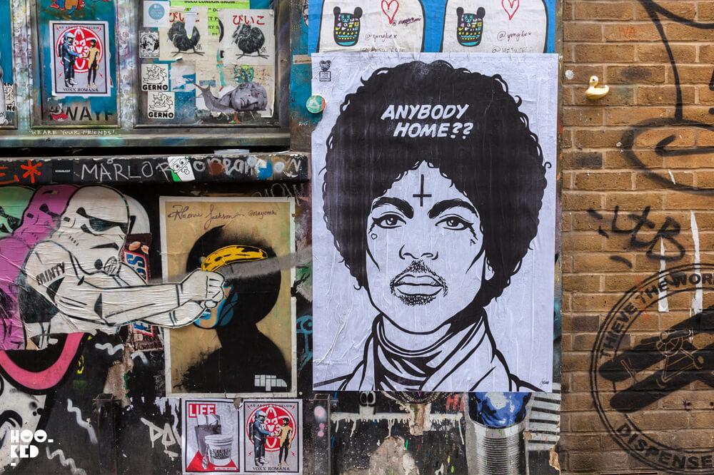 England, London, Shoreditch paste-ups by street artist Tone