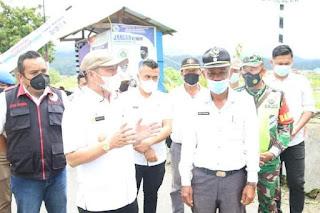 Bupati Taput Monitoring Posko Pencegahan Covid 19 Desa di Kecamatan Tarutung.