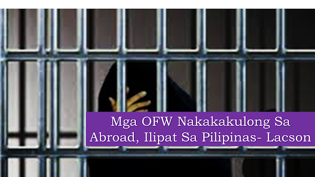"POEA statistics  show that there are around 2.3 million overseas  Filipino workers deployed across the globe. The most number of them are located in the Middle East. In 2018, there were approximately 4,000 Filipinos in different detention facilities overseas with various cases and over a hundred of them are in death row.   Sen. Fanfilo Lacson issued the statement after the DFA presented data during the meeting showing that most Filipinos overseas were detained due to drug charges.      Ads   SEN. Panfilo ""Ping"" Lacson wants the repatriation of Filipino convicts from abroad, reported Inquirer.    Lacson urged the Department of Foreign Affairs (DFA) to pursue more Transfer of Sentenced Persons agreements with other countries.    Lacson called for it Monday during the organizational meeting of the Senate Committee Foreign Relations, where the DFA presented data showing that most Filipinos overseas were detained over drug charges.    ""How do you reconcile (the fact that) here in our country we're killing people and then we're saving drug convicts detained in another country. I'm just curious,"" Lacson asked Foreign Affairs Secretary Teodoro Locsin Jr.    ""Going back to the repatriation of Filipino convicts, maybe you should pursue more Transfer of Sentenced Persons treaties, just like what we have with Spain. I'm just wondering if they would agree to be transferred to Muntinlupa [that is, the New Bilibid Prison] from where they are being detained abroad,"" Inquirer quoted Lacson as saying.    The Treaty on the Transfer of Sentenced Persons states that individuals tried and convicted in a foreign country have the option to serve their remaining sentence in their home country.    The DFA extends financial and legal aid to Filipinos abroad, including those detained or convicted.  Ads      Sponsored Links    ""We are not saying that they [Filipino convicts abroad] should not be punished, but since they are our nationals, we take care of them, we monitor how they are treated, we look at their condition. So is that a way to rationalize?"" Sen. Aquilino Pimentel III, chair of the Senate foreign relations committee, said.  ""Cause we will never ask a foreign country, do not punish our countryman who is involved in drugs because we also will jail him here if he violates our loss. But when you incarcerate him and you punish him, we should be allowed to take a look and pay a visit to our countryman and look at his condition or situation,"" he added."