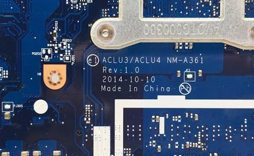 NM-A361 REV-1.0 ACLU3-ACLU4 Lenovo G50-80 Bios
