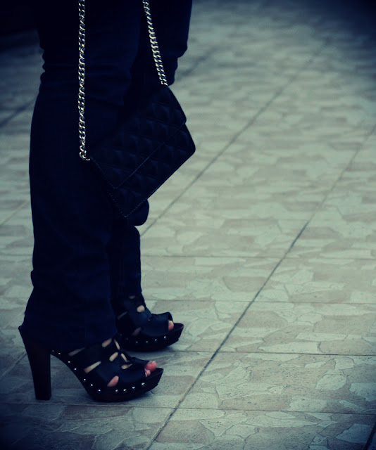 chaussures talons lacets