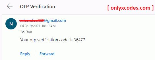 OTP verification HTML template