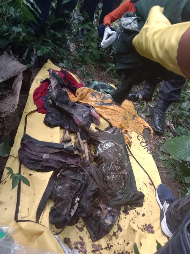 Tanpa Tengkorak,Kerangka Manusia Dan KTP Ditemukan Dipinggir Sungai Banjar Parekan