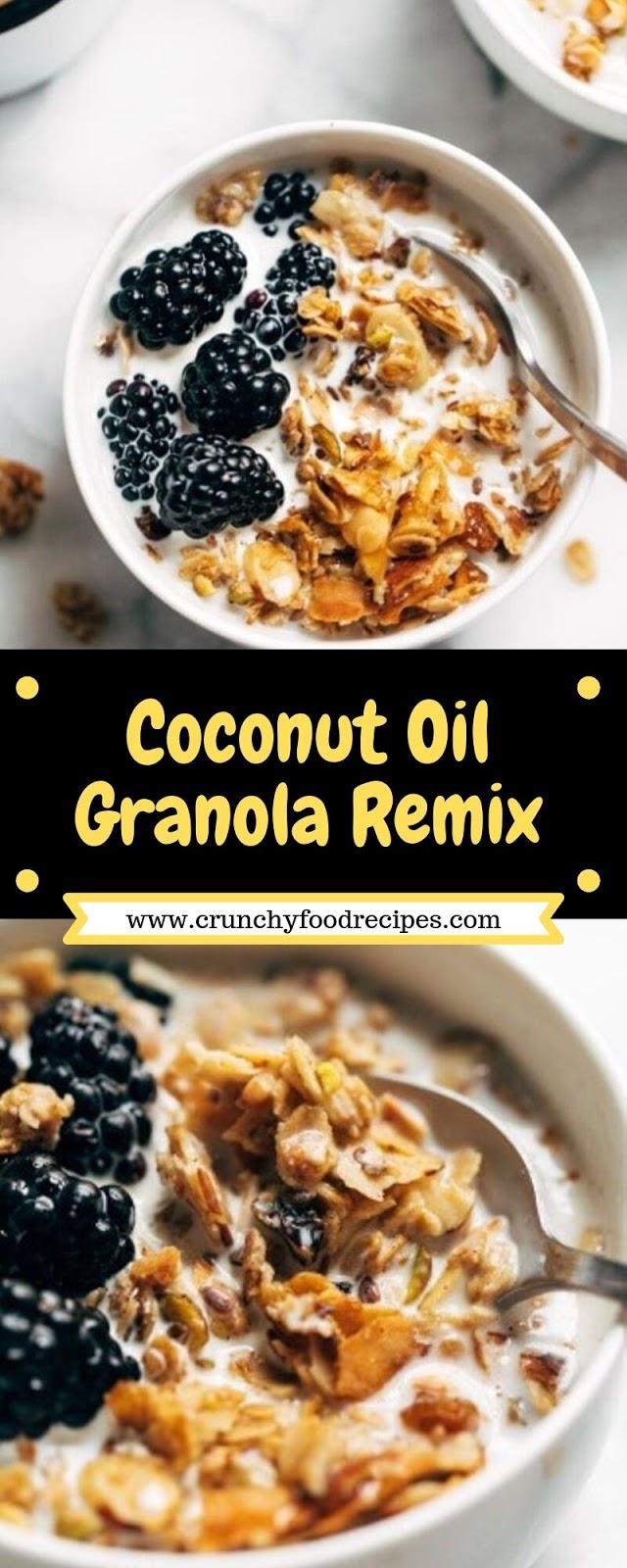 Coconut Oil Granola Remix
