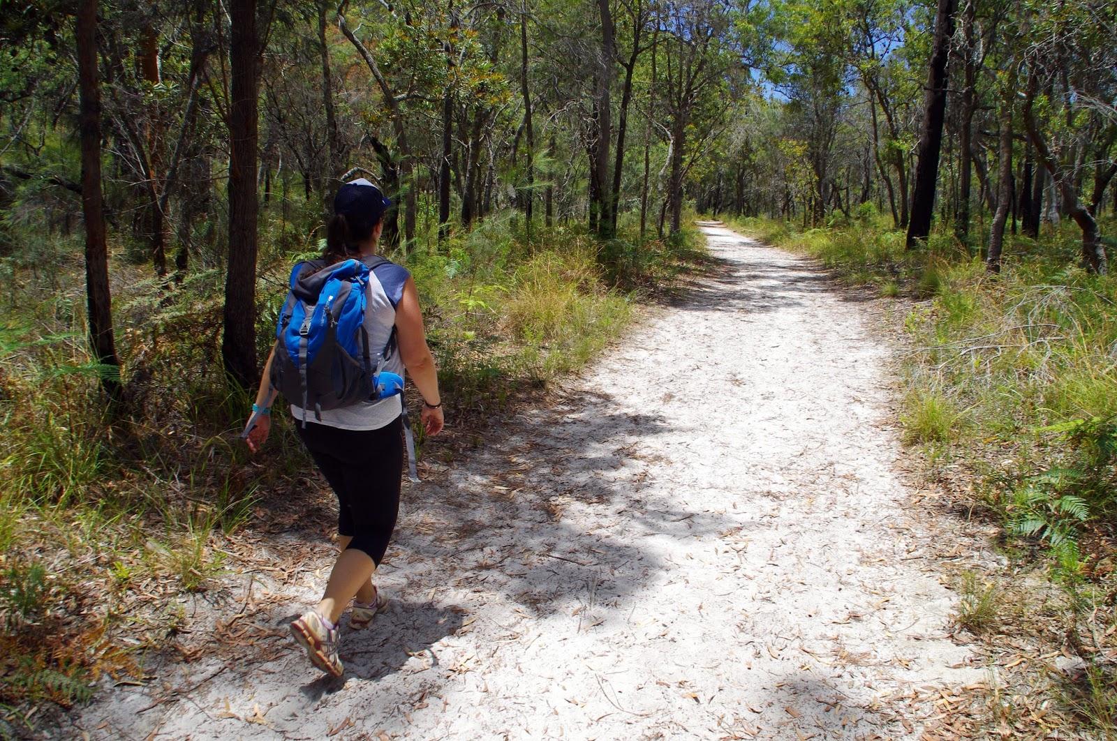 Girl on Walk to Blue Lake Stradbroke Island
