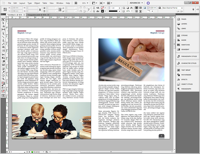 Layout Majalah Indesign