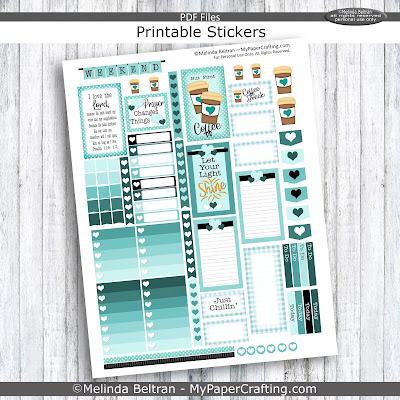 Free Coffee and Scripture Printable Planner Stickers
