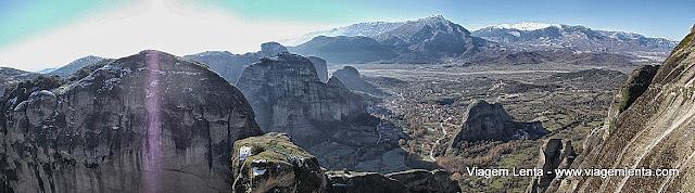 Visão do vale a partir do Great Meteoro