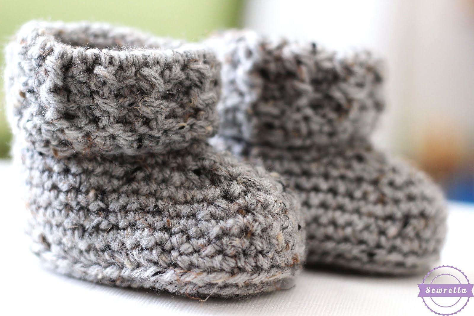 The Parker Crochet Baby Booties - Sewrella