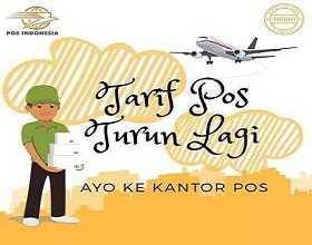 Tarif Pos Indonesia 2019 Turun Sampai 30%