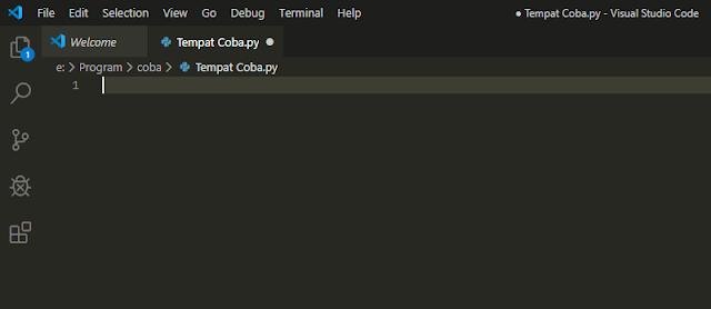 Tampilan Visual Studio Code