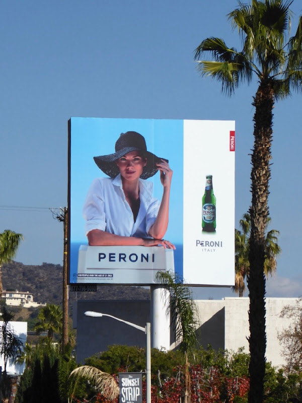 Peroni beer sun hat Jan 2016 billboard