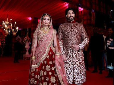 Radhika Pandit and Yash At Reception