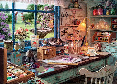 Ravensburger My Haven The Craft Shed Jigsaw Puzzle