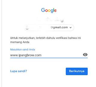 ubah sandi email gmail di hape