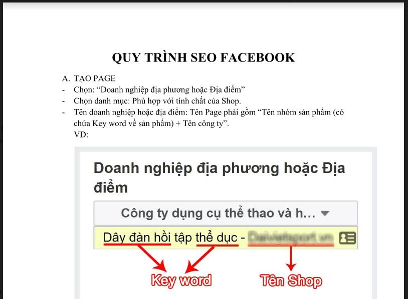 Chia sẻ quy trình SEO Fanpage không phải ai cung biết