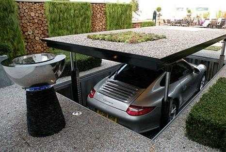Exotic Car Garage Home Design