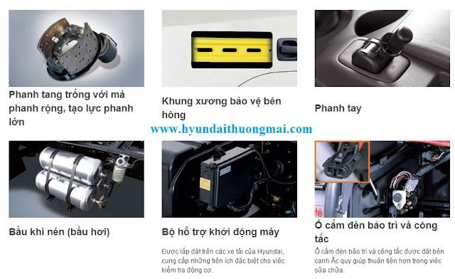 Hệ thống an toàn trên Hyundai HD210