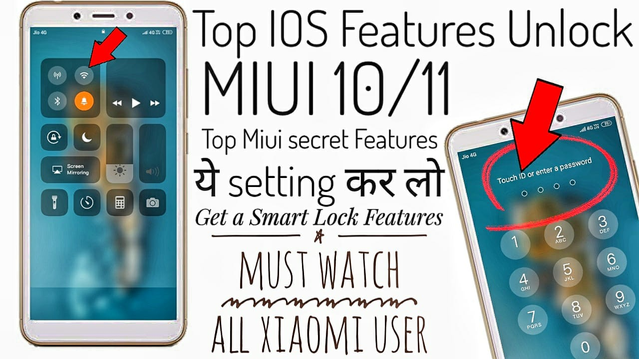 MIUI 11/10 IOS Features & theme for All Xiaomi Phone