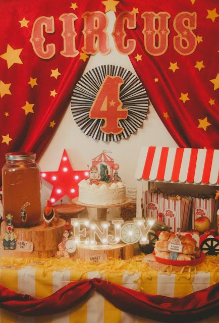 День рождения в стиле Цирк. + МК. Советы по организации детского стола.