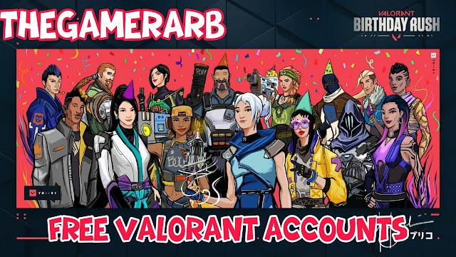 Free Valorant accounts