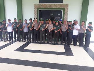 Kunjungan Kerja Kapolda Jambi Korem 042 Garuda Putih