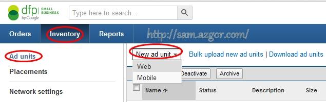 Create Ad Units