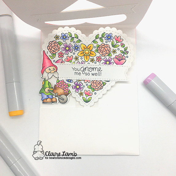 So many thanks by Claire features Heart Frames, Heartfelt Blooms, Gnome Garden, and Banner Trio by Newton's Nook Designs; #newtonsnook, #inkypaws, #thankyoucards, #gnomecards