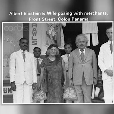 Visita a la Ciudad de Colón del famoso Científico Químico ALBERT EINSTEIN en 1930.