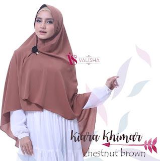 Khimar Valisha Kiara Chestnut Brown