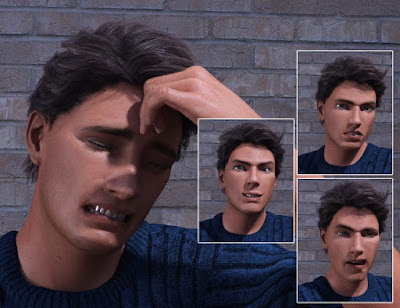 Big Drama Expressions for Genesis 3 Male