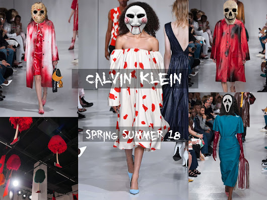"Calvin Klein Spring Summer 2018 Catwalk Overview // 'Nightmare On Wall Street""  - Nosebleeds and Palmtrees"