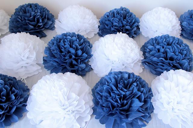 parti organizasyonu için kağıt çiçekler