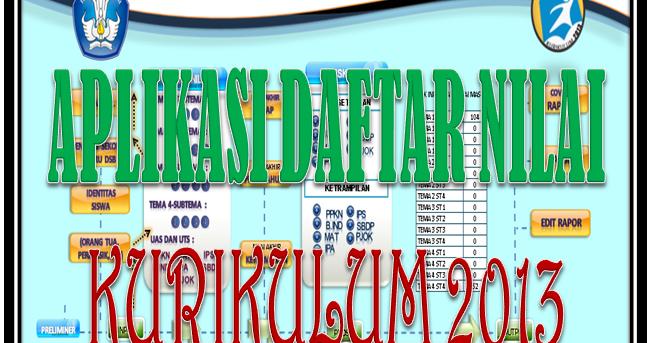 Download Aplikasi Daftar Nilai Kurikulum 2013 Salam